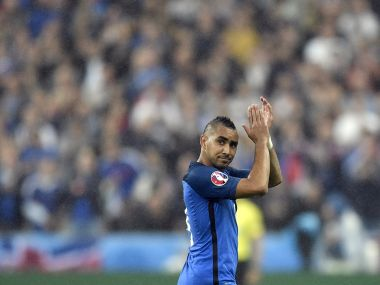 France's Dimitri Payet applauds the supporters as he leaves the pitch during the Euro 2016 quarterfinal match. AP