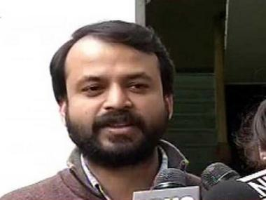 A file image of AAP leader Ashish Khetan. News18