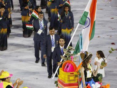 Abhinav Bindra as India's flagbearer at the Rio Olympics 2016 Opening Ceremony. Reuters