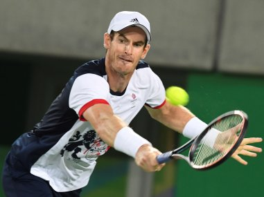 Britain's Andy Murray in action at the Rio Olympics. AFP