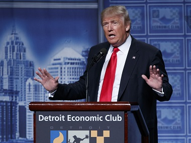 Republican presidential candidate Donald Trump. AP