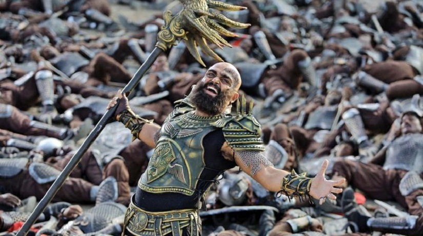 Karthi channels 'Baahubali' and 'game of Thrones' in this look as a fierce warlord in the Tamil fantasy epic 'Kaashmora'
