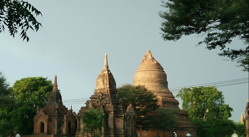 This photo provided by Soe Thura Lwin shows a damaged temple in Bagan, Myanmar, on Wednesday, Aug. 24, 2016. A powerful earthquake measuring a magnitude 6.8 shook central Myanmar on Wednesday, damaging scores of ancient Buddhist pagodas in Bagan, a major tourist attraction, officials said. (Soe Thura Lwin via AP)