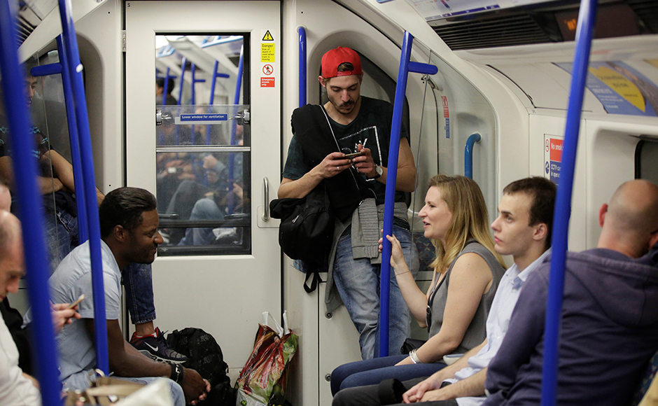 London's first night-time Tube train finally took off from the Brixton station, 19 August. It will run all night on parts of the Central and Victoria lines on Friday and Saturday nights. Reuters