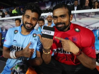 Indian hockey team captain PR Sreejesh. Image courtesy: Twitter/@TheHockeyIndia