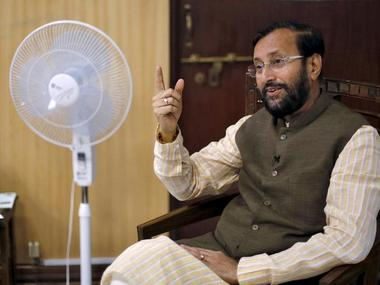 File image of Union Minister Prakash Javadekar. Reuters