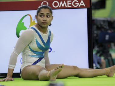 Dipa Karmakar at a training session. AP