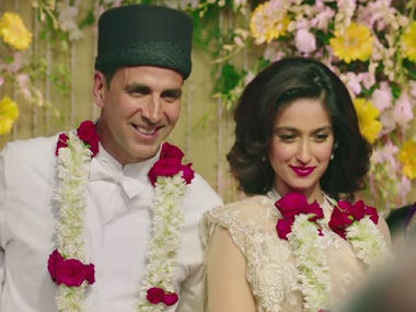Akshay Kumar and Ileana D'Cruz in 'Rustom'