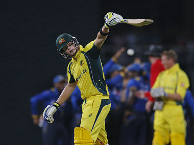 Australia's Steve Smith reacts after being dismissed during their second one day international cricket match against Sri Lanka. AP