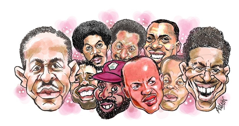 Gallery of greats. Illustration © Austin Coutinho