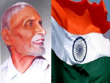 Pingali Venkayya and the Indian Tricolour. Twitter
