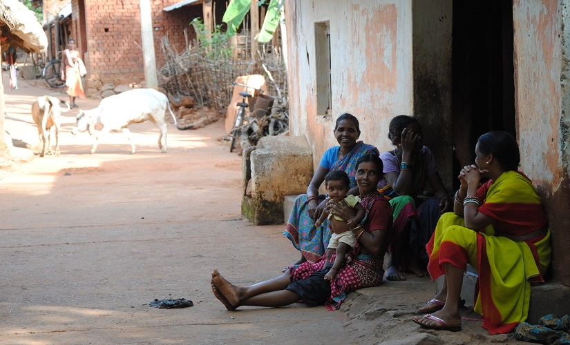 The entrance to Brainguda ward. Things are normal now, say local Hindu villagers. Firstpost/Rahul Pandita