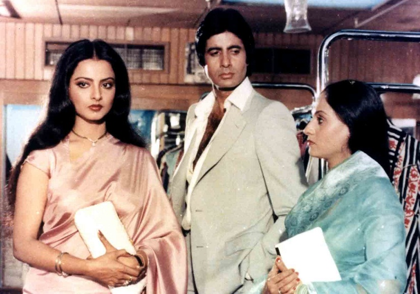 Rekha, Amitabh Bachchan and Jaya Bachchan nee Bhaduri, in 'Silsila'. The film completed 35 years on 29 July 2016.