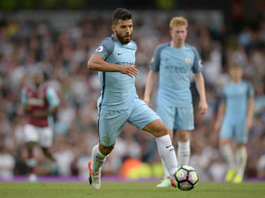 Manchester City's Sergio Aguero will miss the key showdown against Manchester United. AFP