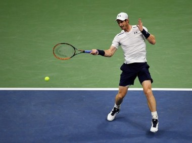 Andy Murray in action against Marcel Granollers at the US Open. Getty