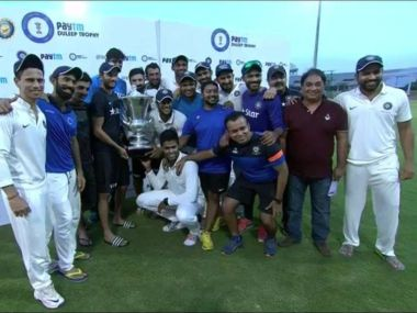 India Blue ride on Ravindra Jadeja's heroics to clinch Duleep trophy title in style