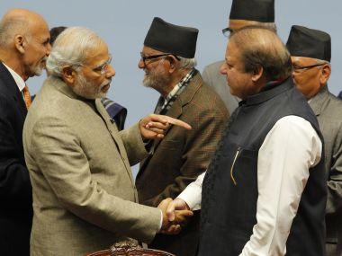 Prime Minister Narendra Modi with his Pakistani counterpart Nawaz Sharif. Representational image. AFP
