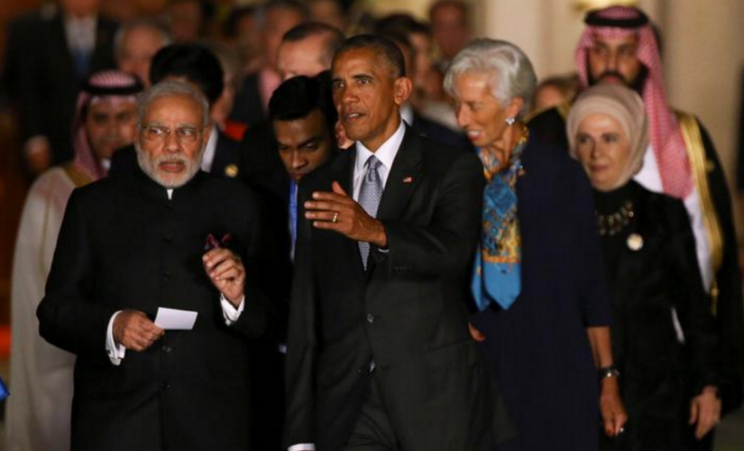 Narendra Modi with Barack Obama. Reuters