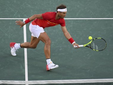 Rafael Nadal of Spain in action. Reuters