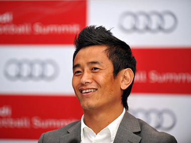 File photo of Baiching Bhutia. AFP