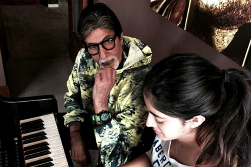 Amitabh Bachchan with grand-daughter Navya Naveli Nanda