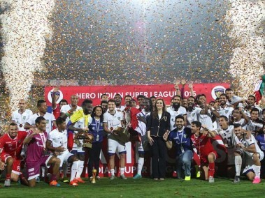 File photo of the winners ceremony of the 2015 ISL season. News18