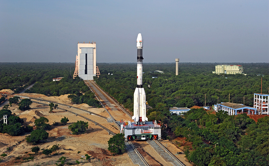 Scientists at the Indian Space Research Organisation (Isro) launched the GSLV-F05, carrying advanced weather satellite INSAT-3DR, after a delay of 40 minutes. (Photo: Isro)