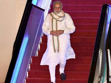 Prime Minister Narendra Modi arrives in Hangzhou, China to attend G20 Summit. PTI