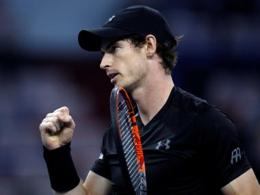 Andy Murray celebrates after defeating Steve Johnson. Reuters