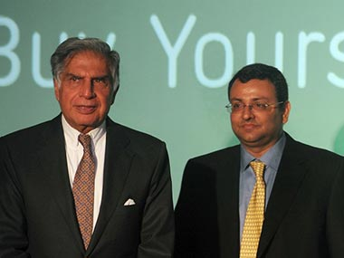 File image of Ratan Tata and Cyrus Mistry. AFP