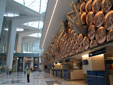 A file picture of Terminal 3 at Indira Gandhi International Airport in New Delhi . Reuters