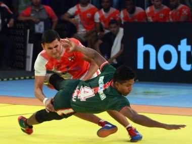 A still from the Kabaddi World Cup 2016 in Ahmedabad
