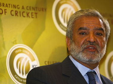 File photo of former ICC president Ehsan Mani. Getty Images
