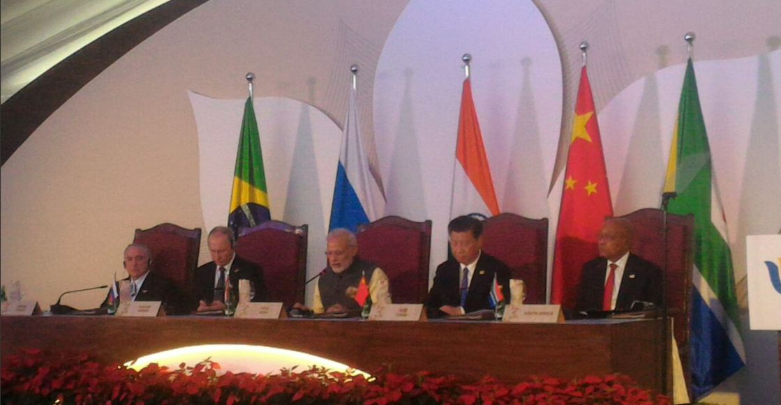 BRICS leaders officially start summit in India's Goa
