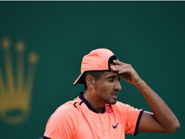 Nick Kyrgios' lacklustre performance sealed his Shanghai Masters exit. AFP