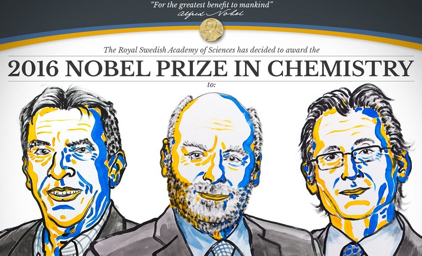 Academy names winners of 2016 Nobel Prize in Chemistry