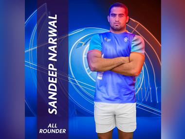 Sandeep Narwal. Image courtesy: Star Sports