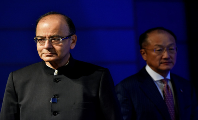 India's Finance Minister and World Bank President at the IMF meetings in Washington D.C/ Reuters