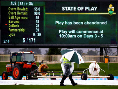 Not a single ball was bowled on the second day of the second Test. Reuters