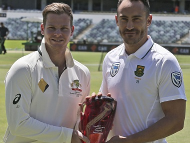Australia will be led by Steve Smith (left) and South Africa by Faf du Plessis. AP