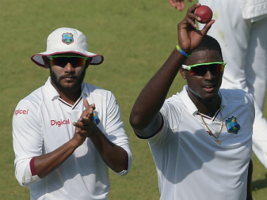 File image of Jason Holder (R). AFP
