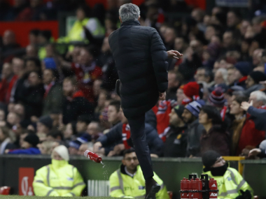 Jose Mourinho's bottle-kicking caused him to be charged. AP