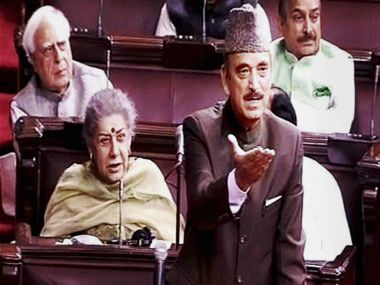 Leader of Opposition in Rajya Sabha Ghulam Nabi Azad on Wednesday. PTI