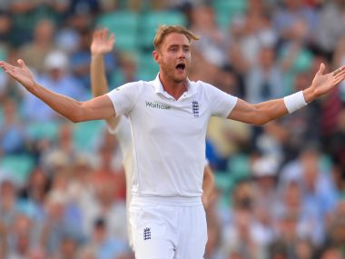 England's Stuart Broad appealing in a Test match against Pakistan. AFP