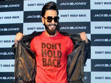 Ranveer Singh at the launch of the Don't Hold Back campaign of Jack and Jones.