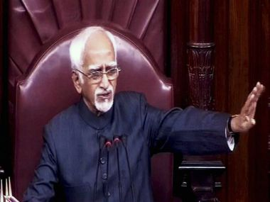 File photo of Vice President Hamid Ansari. PTI