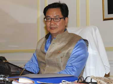 Kiren Rijiju. Image courtesy: Press Information Bureau