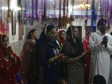 A Pakistani Hindu family celebrates Diwali in Pakistan. AFP