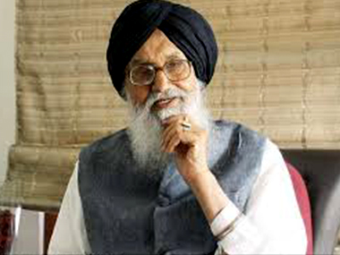 File photo of Punjab Chief Minister Parkash Singh Badal. PTI