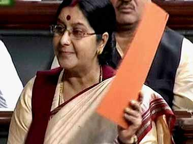 File photo of External Affairs Minister Sushma Swaraj. PTI